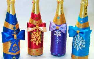 Бутылка шампанского из конфет на Новый год: как быстро и просто сделать своими руками