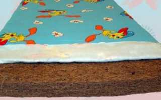 Кокосовый матрас в детскую кроватку: как выбрать лучшую модель