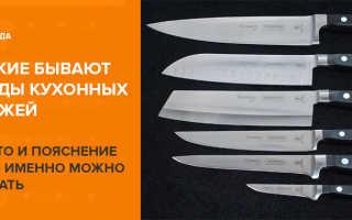 Виды кухонных ножей и их назначение: популярные формы лезвий с описанием
