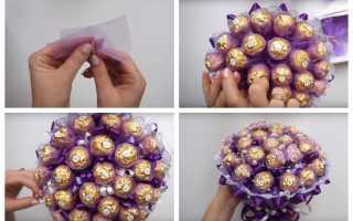 Как сделать букет из конфет к 14 февраля своими руками — 3 варианта с фото и описанием