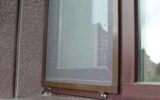 Установка москитной сетки на пластиковое и деревянное окно своими руками