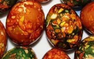 Мраморные яйца на пасху без зеленки с шелухой: 3 интересных рецепта с пошаговыми фото